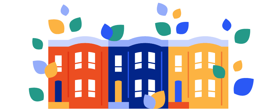 Illustration of Baltimore row houses