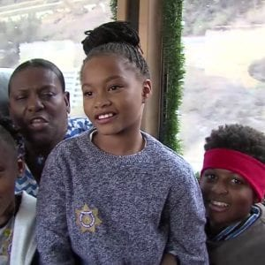 Family on Santa Claus express