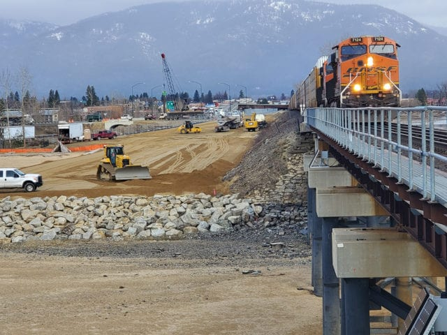 Sandpoint temporary bridge